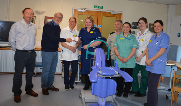 Charity presentation to Exmouth Hospital for £3,000 - February 2018