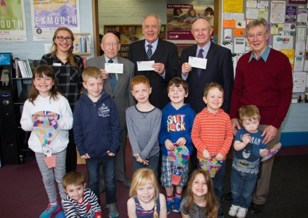 Freemasons help Exmouth library refurbish Childrens Area - April 2017