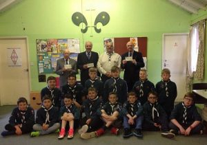 Exmouth Freemasons help Exmouth Scouts - April 2017