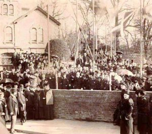 Exmouth Masonic Hall, laying the foundation stone.