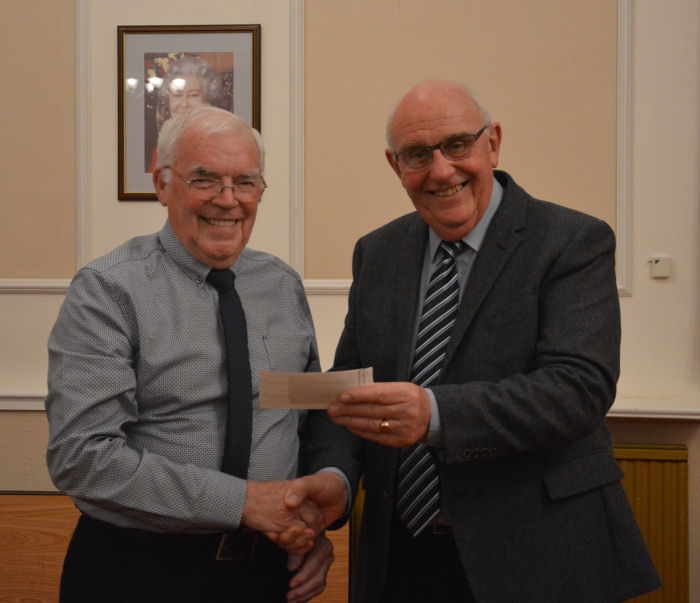 Cheque Presentation to Exmouth Macular Support Group