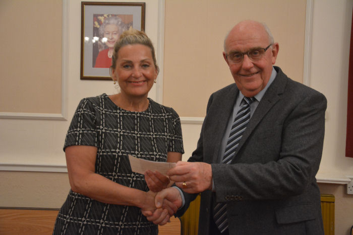Cheque Presentation to Age Concern Exmouth