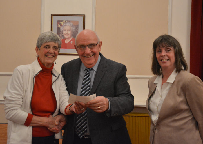 Cheque Presentation to Parkinson's East Devon Support Group