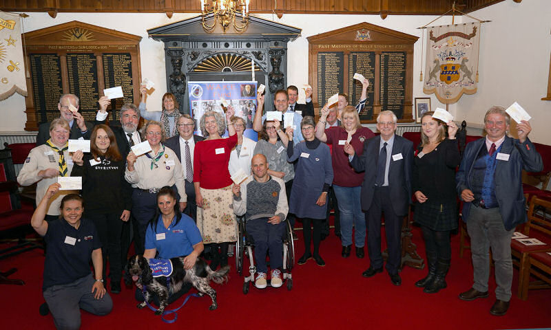 Devon Freemasons - WAKE charity presentation November 2019