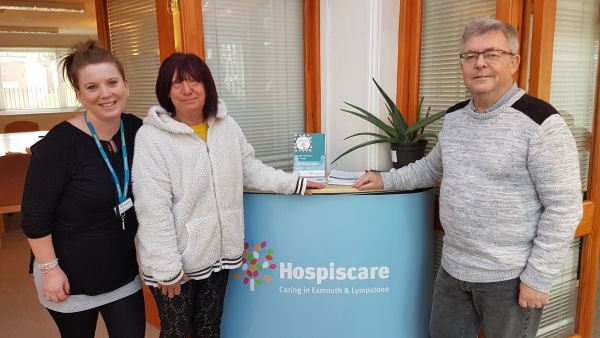 Chariry Donation of £110 to Exmouth and Lympstone Hospice